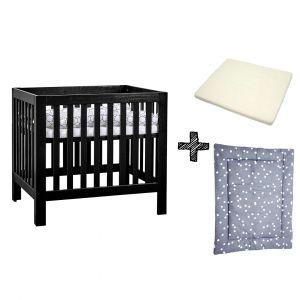 SET | Box Bart Black Wash + Boxmatras Janine + Boxkleed Briljant Baby Spots Iron Antraciet