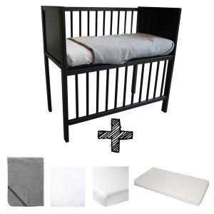 Co-sleeper Black Set Compleet 5-delig Basic Antraciet