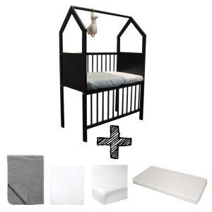Co-sleeper House Set Black Compleet 5-delig Antraciet