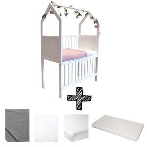 Co-sleeper House Set White Compleet 5-delig Antraciet