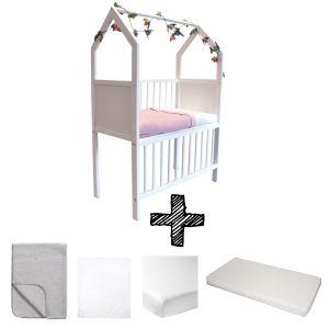 Co-sleeper House Set White Compleet 5-delig Grijs Melange
