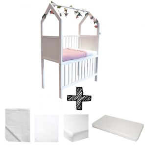 Co-sleeper House Set White Compleet 5-delig Wit