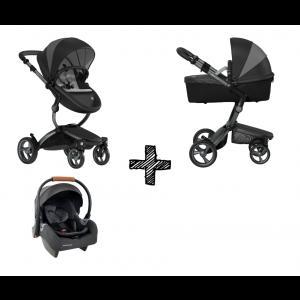 Kinderwagen Mima Xari London Black met Autostoel