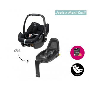 SET | Autostoel Maxi-Cosi X Joolz - Pebble Pro I-Size Black met Isofixbase