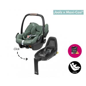 SET | Autostoel Maxi-Cosi X Joolz - Pebble Pro I-Size Green met Isofixbase