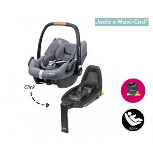 SET | Autostoel Maxi-Cosi X Joolz - Pebble Pro I-Size Grey met Isofixbase