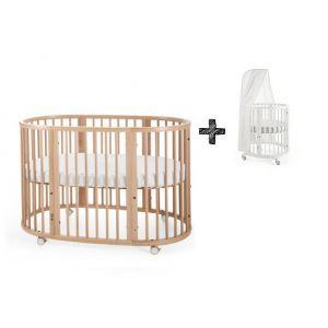 STOKKE® SLEEPI™ Bed 60x120cm Natural + Gratis Piekstok en Sluier