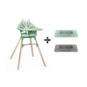 Kinderstoel Stokke® Clikk Clover Green + Gratis EZPZ Placemat