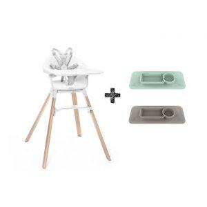 Kinderstoel Stokke® Clikk White + Gratis EZPZ Placemat