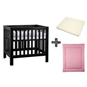 SET | Box Bart Black Wash + Boxmatras Janine + Boxkleed Briljant Baby Minimal Dots Stone Pink
