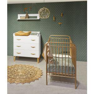 Babykamer Camiel (Ledikant Brons + Commode Wit)