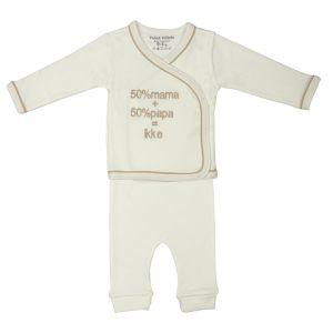 Pyjamapakje Petit Villain 100% Ikke 2-delig 0-3mnd Ecru