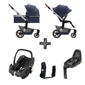Kinderwagen Joolz Hub+ Classic Blue met Autostoel & Base