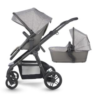 Kinderwagen Silver Cross Coast Limestone + Autostoel Simplicity Granite