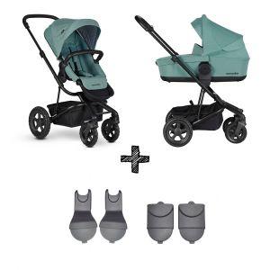 Kinderwagen Easywalker Harvey² All Terrain Coral Green met 2-delig Accessoirepakket