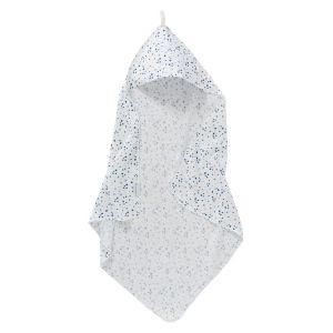 Badcape Cottonbaby Cottonsoft Vlekjes Oudblauw