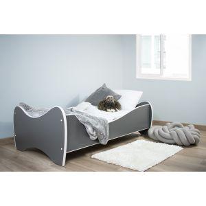Kleuterbed Top Beds Midi Color 160x80 Pastel Donkergrijs Incl. Matras Sfeer