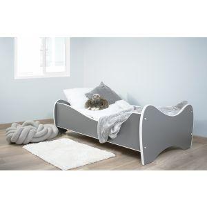 Peuterbed Top Beds Midi Color 70x140 Pastel Donkergrijs Incl. Matras
