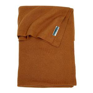 Deken Ledikant Meyco Knit Basic Camel