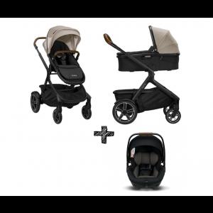 SET | Kinderwagen Nuna Demi Grow Timber + Autostoel Nuna Arra Caviar