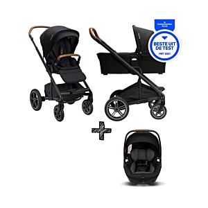 SET | Kinderwagen Nuna Mixx Next Caviar +  Autostoel Nuna Arra Caviar