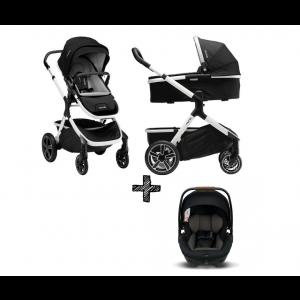 SET | Kinderwagen Nuna Demi Grow Cyber + Autostoel Nuna Arra Caviar