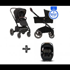 SET | Kinderwagen Nuna Mixx Next Riveted + Autostoel Nuna Arra Caviar
