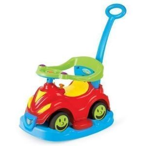 Loopauto 4-in-1 Dolu Smile Car Red