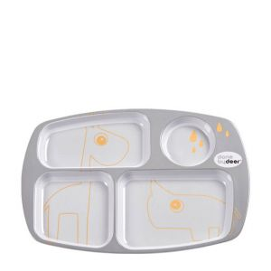 Done By Deer | bord Compartment Contour 1792455 Grey/Gold