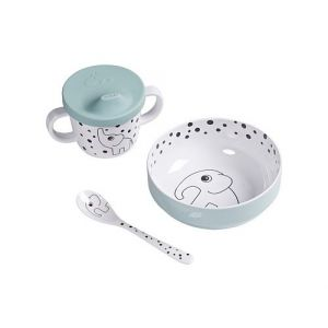 Done By Deer | Eetset First Meal Happy Dots 1592302 Blue