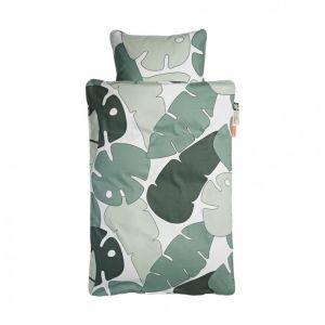 Dekbed Overtrek Ledikant 100x140 Done By Deer Tiny Tropics Green