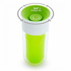 Drinkbeker Munchkin Miracle 360 Isolerende personalisatie Sticker Green