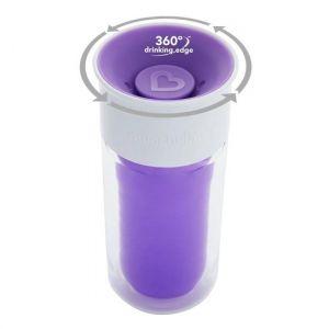 Drinkbeker Munchkin Miracle 360 Isolerende personalisatie Sticker Purple