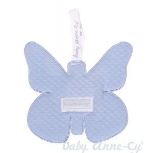 Speendoekje Baby Anne-Cy Vlinder Quilt Baby Blue