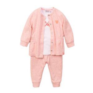 Set 3-delig Dirkje DIPME21 Vest + Shirt + Broek Light Pink/White