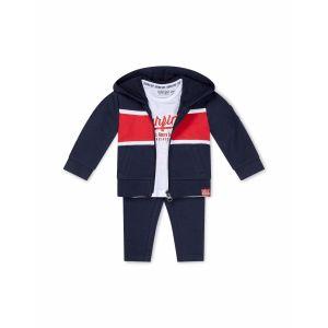 Set 3-delig Dirkje DIPME21 Vest + Shirt + Broek Navy/Red/White