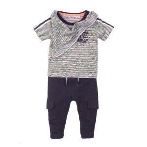 Set 3-delig Dirkje DIPME21 Shirt + Broek + Halsslab Navy Stripe/Print
