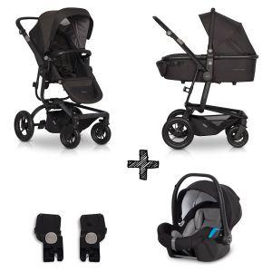 Kinderwagen EasyGo Soul 3in1 Basalt met Autostoel & Adapterset