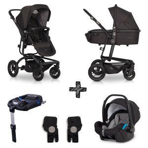 Kinderwagen EasyGo Soul 4in1 Basalt met Autostoel & Isofixbase & Adapterset