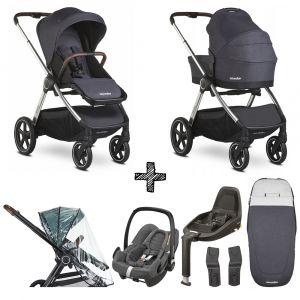 Kinderwagen Easywalker Rudey Mineral Grey Exclusive met Maxi-Cosi & Isofixbase en Accessoires