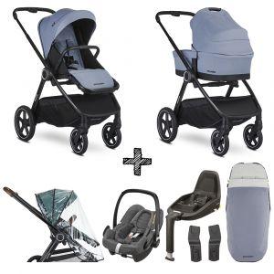 Kinderwagen Easywalker Rudey Steel Grey met Maxi-Cosi & Isofixbase en Accessoires