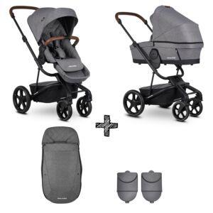 Easywalker Harvey³ Premium Diamond Grey & Autostoel & Voetenzak & Hoogte-Adapter