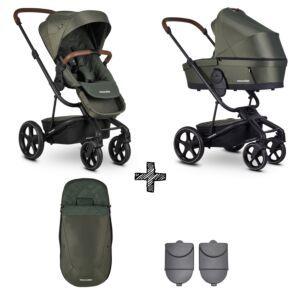 Easywalker Harvey³ Premium Emerald Green & Autostoel & Voetenzak & Hoogte-Adapter
