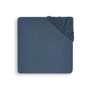 Hoeslaken Boxmatras Jollein 75x95 Jersey Jeans Blue