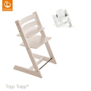 Kinderstoel Stokke® Tripp Trapp® White Wash + Babyset