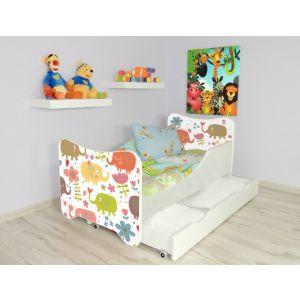 Kleuterbed Top Beds Happy 160x80 Olifantjes Incl. Matras + Bedlade