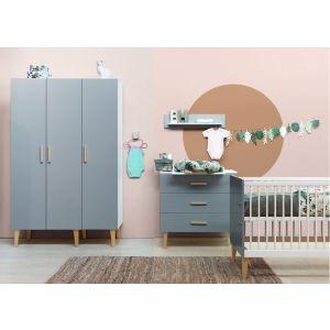 Babykamer Bopita Emma 3-deurskast