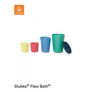 Stokke® Speelgoed Bekers Toy Cups Flexi Bath Multi
