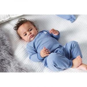 Set van 2 Feetje Pyjama's Wafel Blue Melange Maat 56 t/m 116