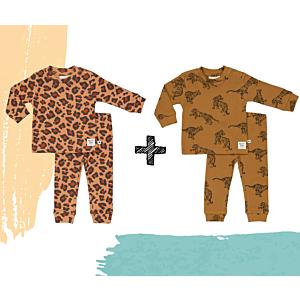 SET 2st. | Pyjama Feetje Premium - Leopard Lee & Tiger Terry